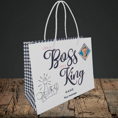Picture of Like A Boss, Celebration Design, Small Landscape Gift Bag