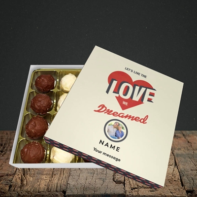 Picture of Let's Live The Love, Valentine Design, Choc 16