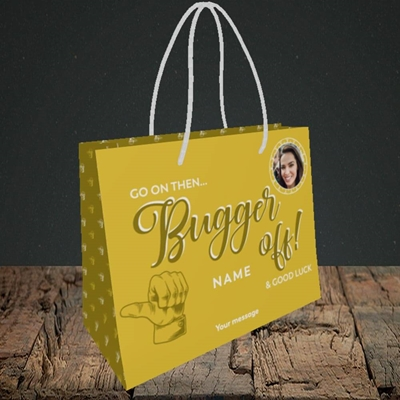 Picture of Bugger Off Then, Leaving Design, Small Landscape Gift Bag
