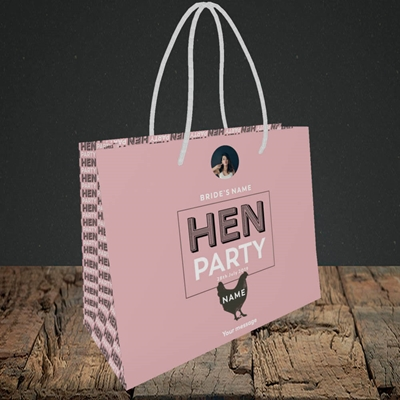 Picture of Hen Party Party Party - Peachy Pink, Wedding Design, Small Landscape Gift Bag