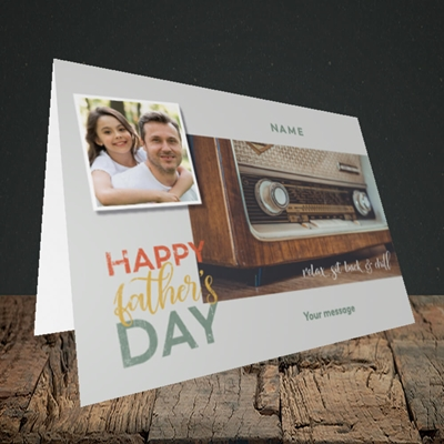 Picture of Retro Radio, Father's Day Design, Landscape Greetings Card