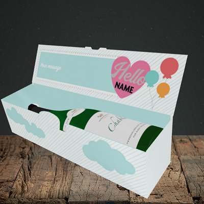 Picture of Elephant, New Baby Design, Lay-down Bottle Box