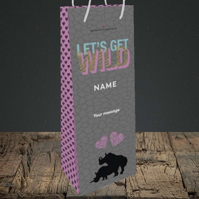 Picture of Let's Get Wild(Without Photo), Valentine's Design, Bottle Bag