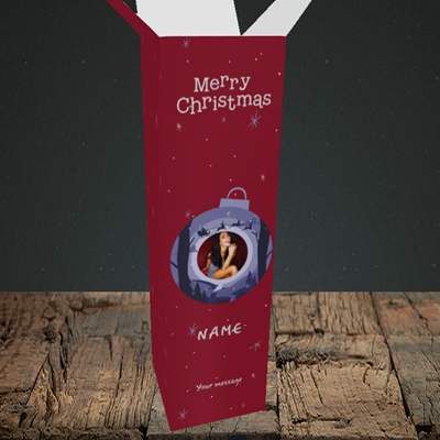 Picture of Bauble Scene, Christmas Design, Upright Bottle Box