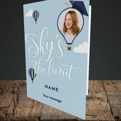 Picture of Sky's the Limit, Graduation Design, Portrait Greetings Card