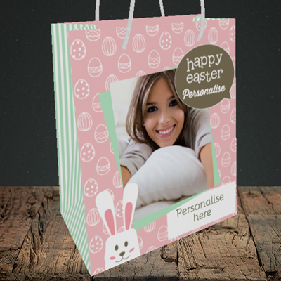 Picture of Rabbits, Easter Design, Medium Portrait Gift Bag