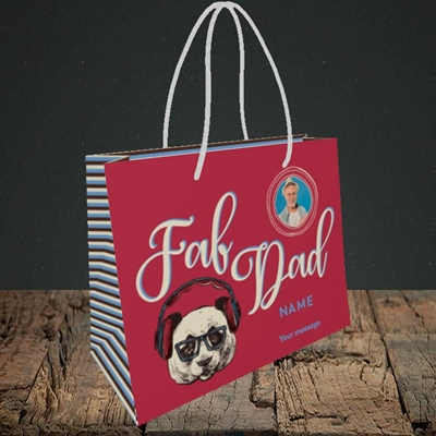 Picture of Fab Dad, Birthday Design, Small Landscape Gift Bag