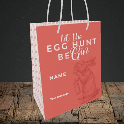 Picture of Egg Hunt BeGin(Without Photo), Easter Design, Small Portrait Gift Bag