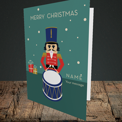 Picture of Drummer Boy(Without Photo), Christmas Design, Portrait Greetings Card