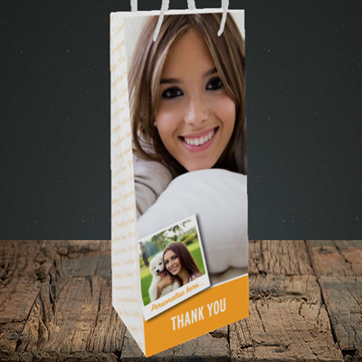 Picture of Photo, Thank You Design, Bottle Bag