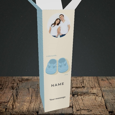 Picture of Little Bundle-Boy, New Baby Design, Upright Bottle Box