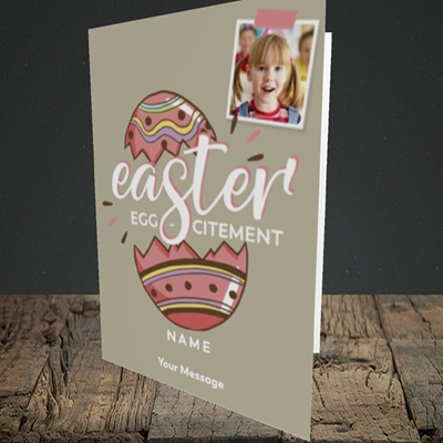 Picture of Egg-citement, Easter Design, Portrait Greetings Card