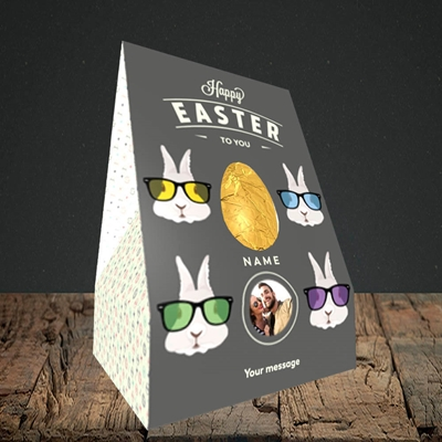 Picture of Hipster Bunnies, Easter Design, Large Egg