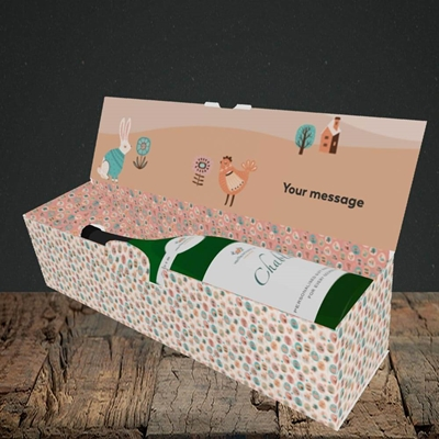 Picture of Easter Farm(Without Photo), Easter Design, Lay-down Bottle Box