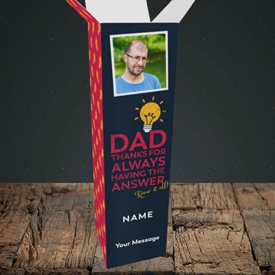Picture of Know It All, Father's Day Design, Upright Bottle Box