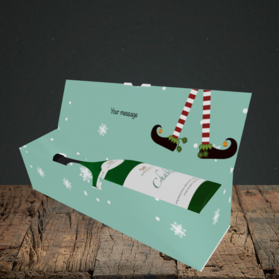 Picture of Elf, (Without Photo) Christmas Design, Lay-down Bottle Box