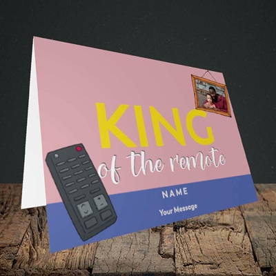 Picture of King Of The Remote, Father's Day Design, Landscape Greetings Card