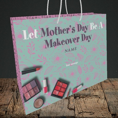 Picture of Makeover Day(No Photo), Mother's Day Design, Medium Landscape Gift Bag