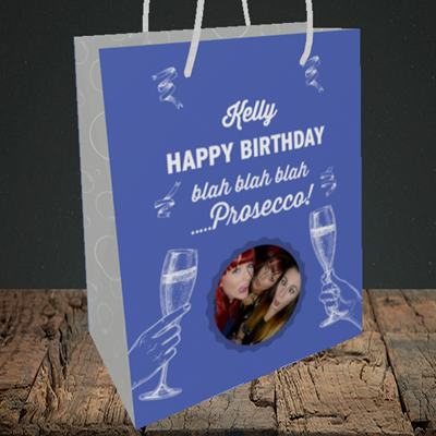 Picture of Blah, Birthday Design, Medium Portrait Gift Bag