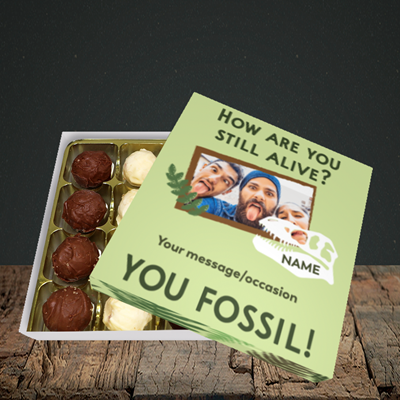 Picture of Fossil, Birthday Design, Choc 16