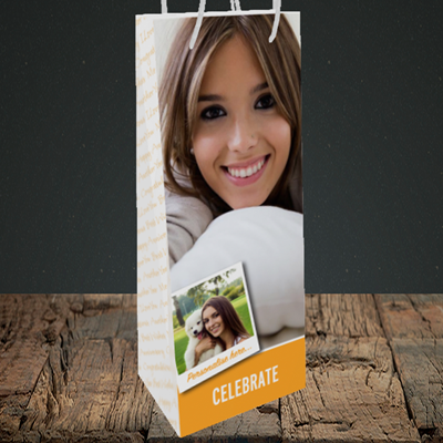 Picture of Photo, Celebration Design, Bottle Bag