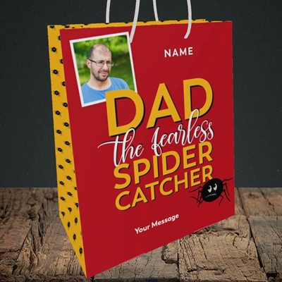 Picture of Spider Catcher, Father's Day Design, Medium Portrait Gift Bag