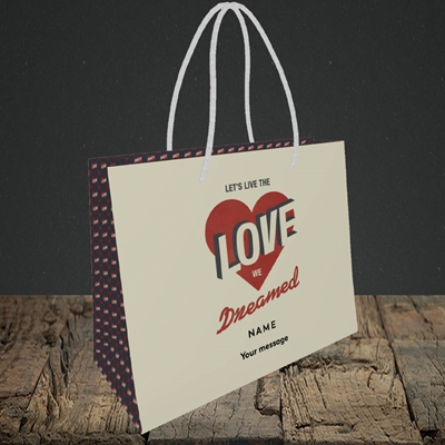 Picture of let's live the love (Without Photo), Valentine's Design, Small Landscape Gift Bag