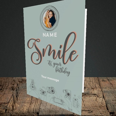 Picture of Camera Smile, Birthday Design, Portrait Greetings Card