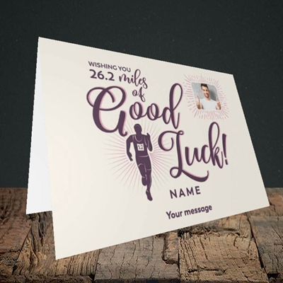 Picture of Miles of Luck, Good Luck Design, Landscape Greetings Card
