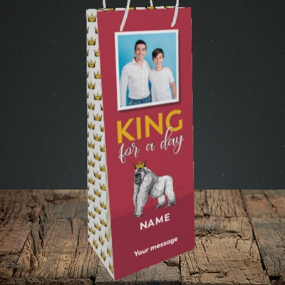 Picture of King For A Day, Father's Day Design, Bottle Bag
