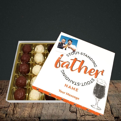 Picture of Stout-standing Father, Father's Day Design, Choc 25