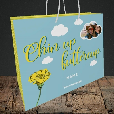 Picture of Chin Up, Thinking of You Design, Medium Landscape Gift Bag