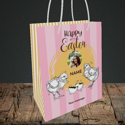 Picture of Little Chicks, Easter Design, Small Portrait Gift Bag