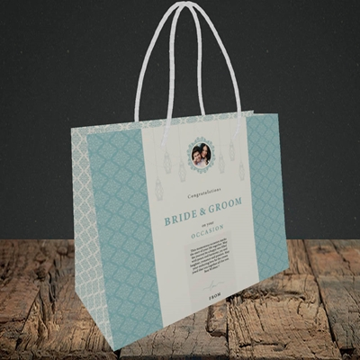 Picture of Moroccan Influences Teal B&G, Wedding Design, Small Landscape Gift Bag