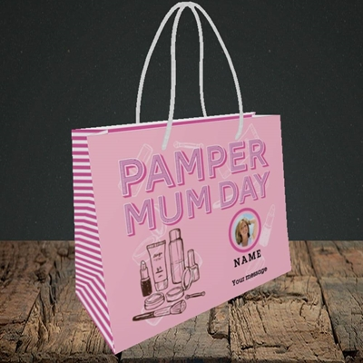 Picture of Pamper Mum Day, Mother's Day Design, Small Landscape Gift Bag