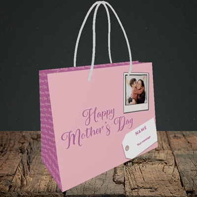 Picture of 2. Polaroid, Mother's Day Design, Small Landscape Gift Bag