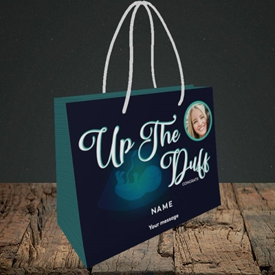 Picture of Up The Duff, Pregnancy Design, Small Landscape Gift Bag