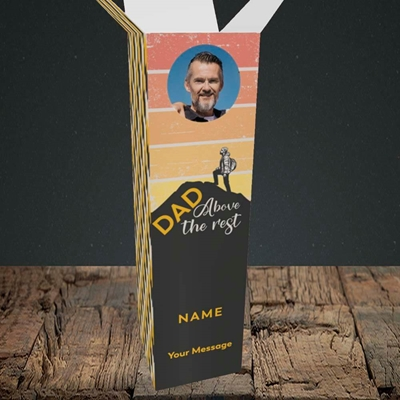 Picture of Dad Above The Rest, Father's Day Design, Upright Bottle Box