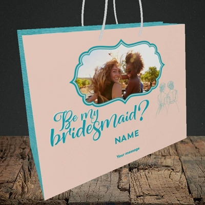 Picture of Be My Bridesmaid, Wedding Design, Medium Landscape Gift Bag