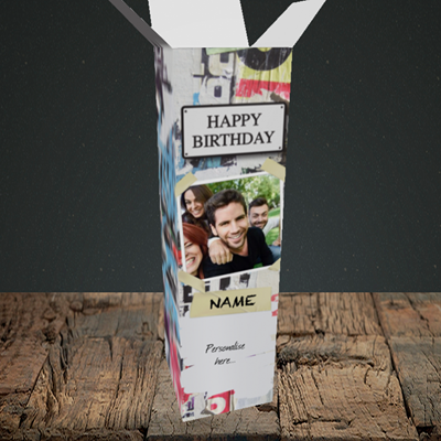 Picture of Graffiti, Birthday Design, Upright Bottle Box
