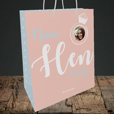 Picture of Hen Party Peach, Wedding Design, Medium Portrait Gift Bag