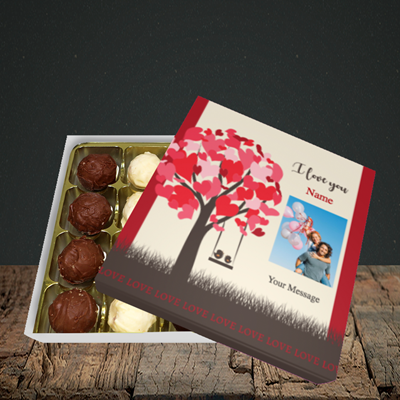 Picture of Lovebirds, Valentine Design, Choc 16