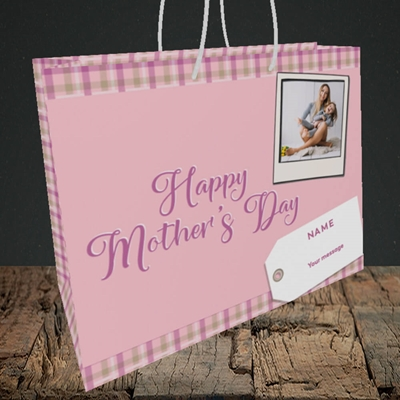 Picture of 2. Polaroid(Chequer), Mother's Day Design, Medium Landscape Gift Bag