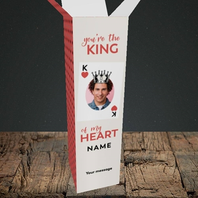 Picture of King Of My Heart, Valentine's Design, Upright Bottle Box