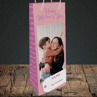 Picture of 1. Large Photo, Mother's Day Design, Bottle Bag