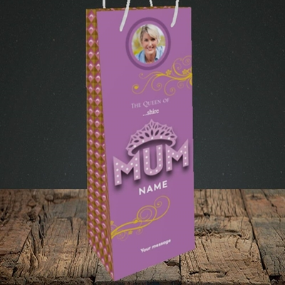 Picture of The Queen, Mother's Day Design, Bottle Bag