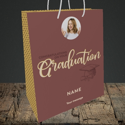 Picture of Your Graduation, Graduation Design, Medium Portrait Gift Bag