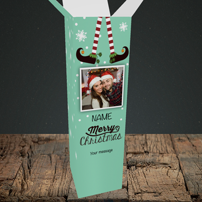 Picture of Elf, Christmas Design, Upright Bottle Box