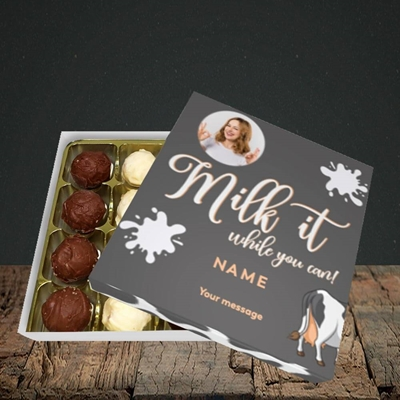 Picture of Milk It, Get Well Soon Design, Choc 16