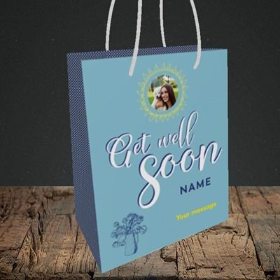 Picture of Sun & Flowers, Get Well Soon Design, Small Portrait Gift Bag